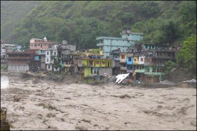 Mahakali river at Darchula headquarter Khalanga destroying land and buildings