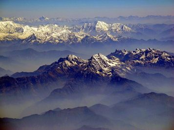 Wide mountain range of Nepal